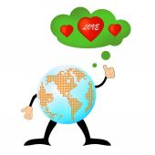Love peace romance, love heart, finding love solution — Stock Vector