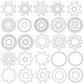 Cogwheels. Vector collection — Stok Vektör