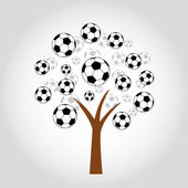 Soccer Football Tree — Stock Vector