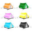 Set of tourist tents — Stock Vector #54899789