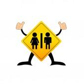 Wc de ícone, homem & mulher, ilustração vetorial — Vetorial Stock