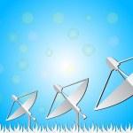 Satellite dish white blue background, vector — Stock Vector #54900447