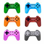 Game controller on a white background. Vector. — Stock Vector