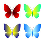 Verzameling van vlinder vector icons — Stockvector