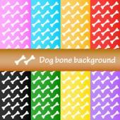 Dog bone background — Stock Vector