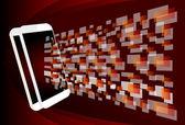 Stylish futuristic phone concept design — Stock Vector