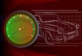 Speedometer needle — Stock Vector