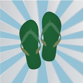 Sandals on Blue Background — 图库矢量图片