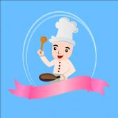 Cartoon chef vector — Stock Vector
