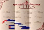 Cuba infographics, statistical data, sights. Vector — Stock Vector