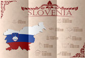 Slovenia infographics, statistical data, sights. Vector — Stock Vector