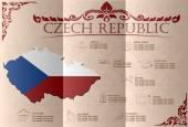 Czech Republic infographics, statistical data, sights. Vector — Stock Vector