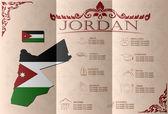 Jordan,infographics, statistical data, sights. Vector — Stock Vector
