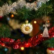 Постер, плакат: Christmas ball in shape of sunflower on Christmas tree Christm