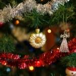 ������, ������: Christmas ball in shape of sunflower on Christmas tree Christm