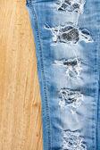 破れたジーンズ — ストック写真