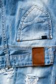Pocket and label of jeans. — Стоковое фото
