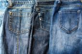 Different jeans — Stock Photo