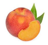 Peaches isolated — Stock Photo