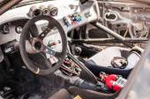 Fast Racecar Cockpit — Stock Photo