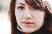 Close-up portrait of girl — Stock Photo