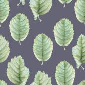 Seamless pattern with beautiful spring leaves — Stock Photo