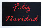Blackboard advertising feliz navidad — Stock Photo