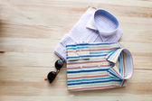 Set of various clothes and accessories for men — Stock Photo