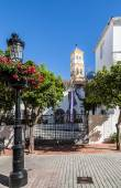 Villages of Andalucia with flowers in the streets — Stock Photo