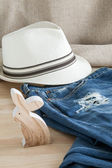 Set of various clothes and accessories for women — Stok fotoğraf