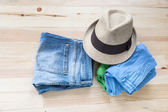 Set of various clothes and accessories for women — Stock Photo