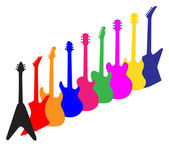 Modern Guitar Silhouettes — Stock Vector