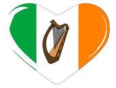 Irish Flag Heart — Stock Vector