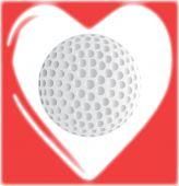 любовный гольф — Cтоковый вектор