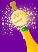 Bubbly New Year 2015 — Stock Vector