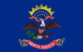 Drapeau du dakota du nord — Vecteur