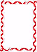 Red Ribbon Border — Stock Vector