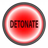 Detonate Button — Stock Vector