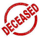 Deceased — Stock Vector