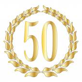 50th Anniversary — Stock Vector