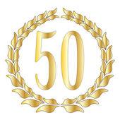 50th Anniversary — Stock Vector