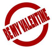 Worden mijn valentijn — Stockvector