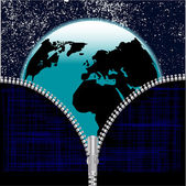 Earth Zipper — Stock Vector