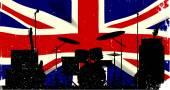 UK Rock Band — Stock Vector