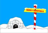 Merry Christmas North Pole — Stock vektor