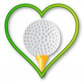 Love Golf — Stock Vector