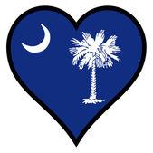 Love South Carolina — Vector de stock