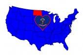 State of North Dakota — Stock Vector