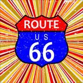 Route 66 Retro Background — Stock Vector
