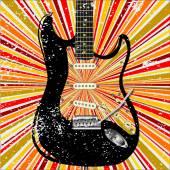 Grunge Guitar — Stock Vector
